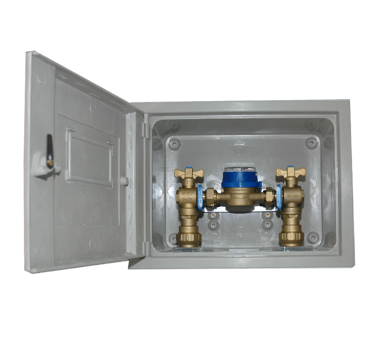 Cofre poliester 25x35 con montaje - Accysa