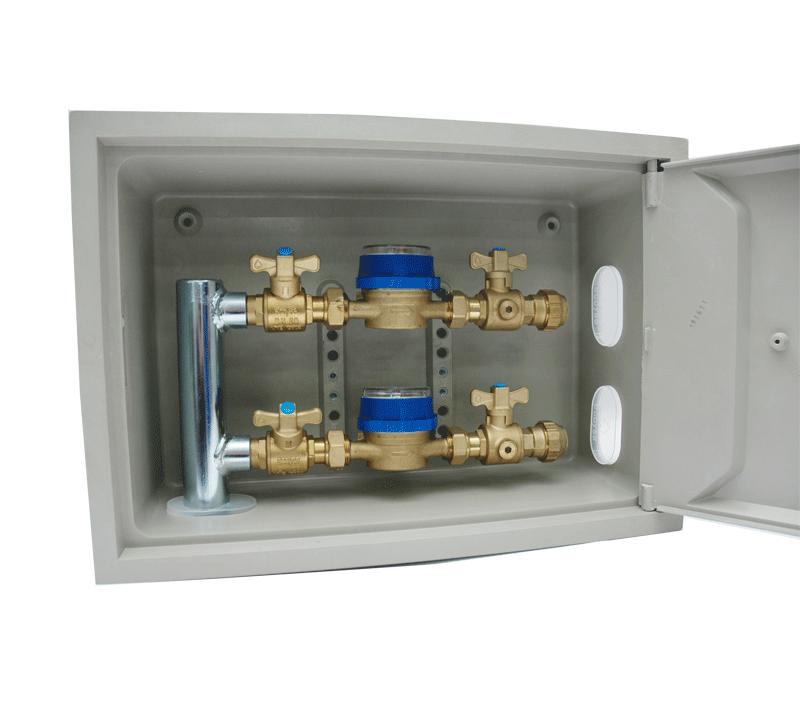 Cofre poliester 30x45 con montaje doble - Accysa