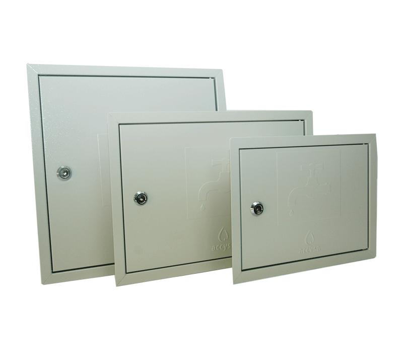 Puerta de registro metálica para contador - Accysa
