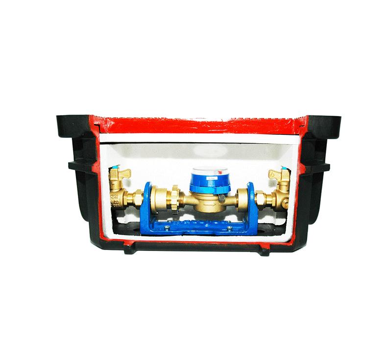 Detalle interior arqueta HDPE RCF4021 - Accysa