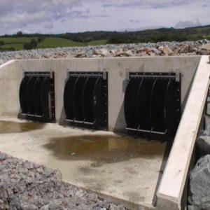 Valvula Clapeta Muro Hormigon Instalacion