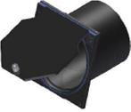 Válvula De Clapeta 15º  Conexión A Tubo De PVC