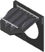 Válvula De Clapeta 0º  Conexión A Muro De Hormigón
