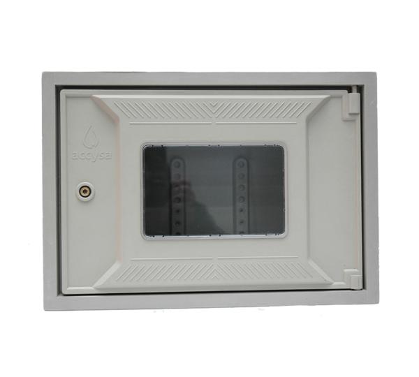 Cofre poliéster fibra de vidrio 30x45 ventana - Accysa