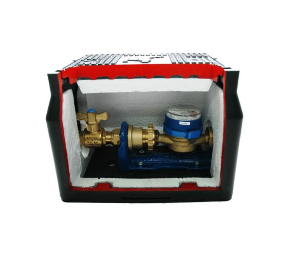 Detalle Arqueta montaje contador HDPE RCF2529 - Accysa