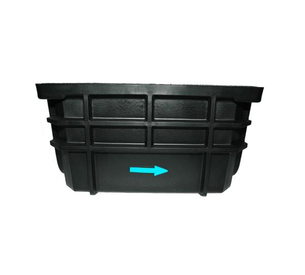 Frontal Arqueta HDPE tapa fundición - Accysa